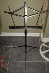 Black Collapsible Music Stand with carry case by Nomad Stands in Glendale Heights, Illinois