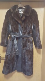 leather fur woman coat in Hohenfels, Germany