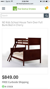 Bunk Bed Full/ Twin MINT Condition Solid Wood in Joliet, Illinois