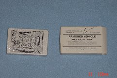 US Army Armored Vehicle Recognition Cards May 1987 in Orland Park, Illinois