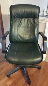 Green Leather Desk Chair in Naperville, Illinois