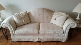 Couch with pillows - cream/off-white in Westmont, Illinois