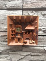 Wooden Rustic Wall Hanging Art - Log Cabin #2 in Okinawa, Japan