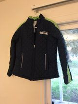 Seahawks jacket in Fort Lewis, Washington