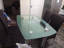 glass table and 4 chairs in Alconbury, UK