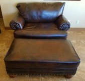 Leather Love Seat & Ottomon:  REDUCED in Yucca Valley, California