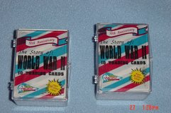 2 WWII Trading Card Sets 50th Anniversary in Orland Park, Illinois