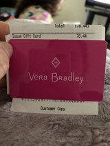 Vera Bradley Gift Card $78.44 in Fort Campbell, Kentucky