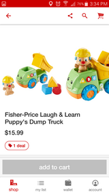 Fisher Price Dump Truck toy in Lawton, Oklahoma