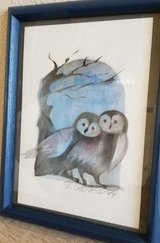 Super cute owl pic w/frame in Mannheim, GE
