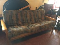 Solid Wood Futon With Thick Mattress in Leesville, Louisiana