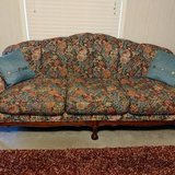 Beautiful floral print couch and loveseat in Spring, Texas