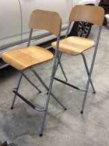 Pair of high folding chairs in Kingwood, Texas