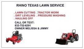 TEXAS RHINO BOYS LAWN AND TRACTOR WORK in Liberty, Texas