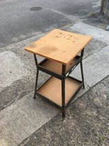 Work Stand Metal w wood top in Okinawa, Japan