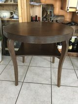 Round End Table Two Tier — Dark Wood in Ramstein, Germany