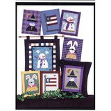 BUNNY FLAG WITCH SNOWMAN Patterns: APPLIQUE or CROSS STITCH Pillow or Wall Decor in Westmont, Illinois