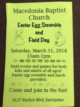 Egg Scramble and Field Event in Fort Rucker, Alabama