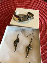 Harley Davidson earrings and bracelet set in Conroe, Texas