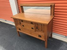 Mission Tiger Oak Sideboard w/ Mirror Top in Cherry Point, North Carolina