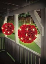 Set with 3 LED Solar Roses Ball to hang up in Ramstein, Germany