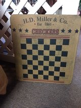 Wall hanging -Wooden checkers board in Oswego, Illinois