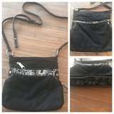 Thirty-One black & floral paisley crossbody purse in Warner Robins, Georgia