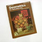 1977 Needlepoint Geometrics: Purse Doorstop Wall hangings, J.HOUSE bklt in Chicago, Illinois