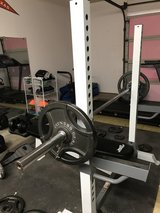 Fitness Gear bench and squat rack 300lb total plates in Alamogordo, New Mexico