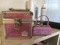 Sequined - Pink - Glittery - Little girl overnight case with purse in Fort Leonard Wood, Missouri