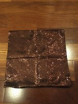 "Copper Colored Sequined Zippered Pillow Cover - 16"" x 16"" in Naperville, Illinois"