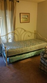 Day Trundle Bed Two Mattresses Twin Size Good Shape in Melbourne, Florida