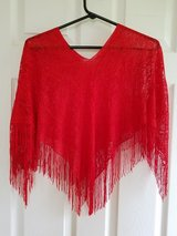 Brand NEW! Red Shawl Poncho in Fort Campbell, Kentucky