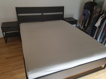 Bed frame with 2 night stands in Wiesbaden, GE