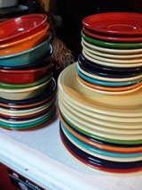 lot of fiestaware dishes in St. Charles, Illinois