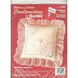 VTG BUCILLA CANDLEWICK EMBROIDERY PILLOW KIT Butterfly NIP in Westmont, Illinois