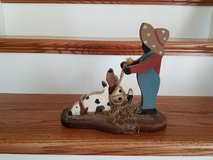 Wooden Boy with Dog in Kingwood, Texas