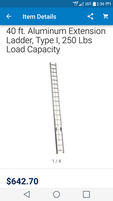 40 Foot Aluminum Extension Ladder by Louisville in Hinesville, Georgia
