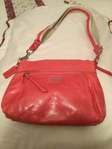 Pink Leather Coach purse, like new in Ramstein, Germany