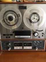 reel to reel and library of music in Yucca Valley, California