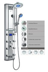 "Blue Ocean 52"" Aluminum Shower Panel Tower with Rainfall Shower Head, 8 Mist Nozzles in Oswego, Illinois"