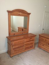 Dresser, mirror and 2 end tables in Oceanside, California