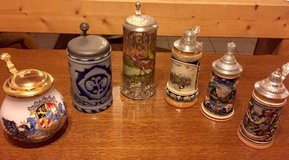 Collectible Beer Mugs with lid in Ramstein, Germany