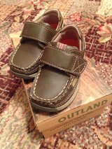 Outland 6M Velcro brown shoes in Okinawa, Japan