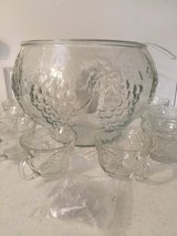 Vintage (not used)Grapes & Leaves Punch Bowl Set in Eglin AFB, Florida