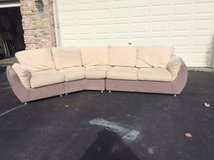 ultra suede designer sectional sofa couch in Bartlett, Illinois
