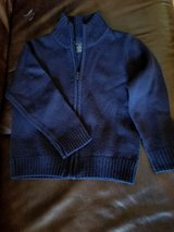 Toddler Boy Dark Navy Blue long Sleeve zipper Sweater size 4 - 5 (XS) in Byron, Georgia