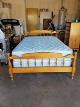 FULL SIZE BED WITH WOODEN FRAME. in Alamogordo, New Mexico