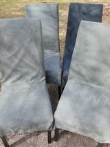 Four Covered Leather Chairs in Sandwich, Illinois