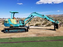 Excavator in Yucca Valley, California